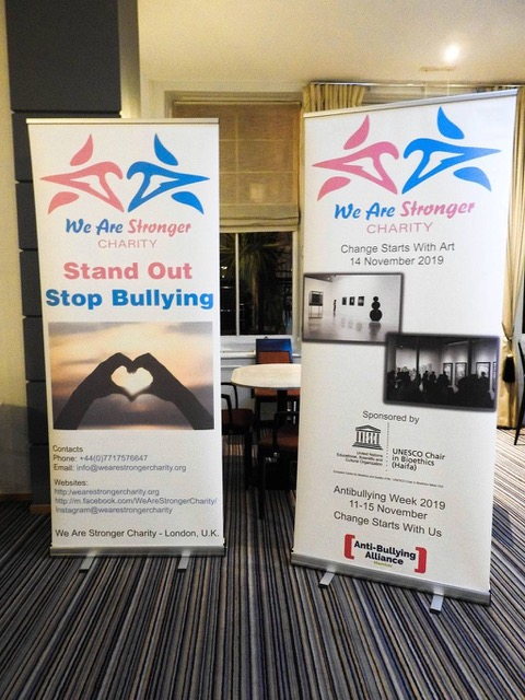Advertisement banners of We Are Stronger Charity